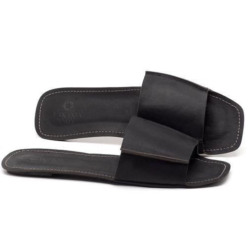 Laranja_Lima_Shoes_Sapatos_Femininos_Sandalia_Rasteira_Flat_em_Couro_Preto_-_Codigo_-_3709_1