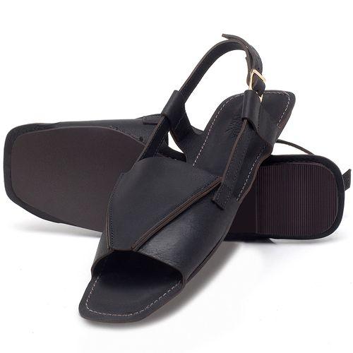 Laranja_Lima_Shoes_Sapatos_Femininos_Sandalia_Rasteira_Flat_em_Couro_Preto_-_Codigo_-_3710_2