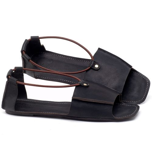 Laranja_Lima_Shoes_Sapatos_Femininos_Sandalia_Rasteira_Flat_em_Couro_Preto_-_Codigo_-_3712_1