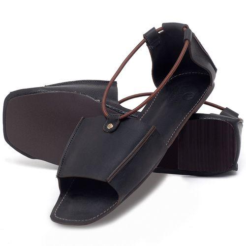 Laranja_Lima_Shoes_Sapatos_Femininos_Sandalia_Rasteira_Flat_em_Couro_Preto_-_Codigo_-_3712_2