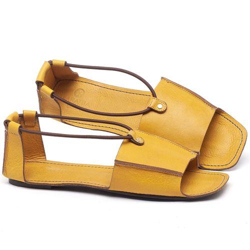 Laranja_Lima_Shoes_Sapatos_Femininos_Sandalia_Rasteira_Flat_em_Couro_Amarelo_-_Codigo_-_3712_1