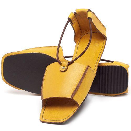 Laranja_Lima_Shoes_Sapatos_Femininos_Sandalia_Rasteira_Flat_em_Couro_Amarelo_-_Codigo_-_3712_2