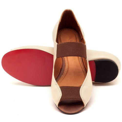 Laranja_Lima_Shoes_Sapatos_Femininos_Sapatilha_Peep_Toe_em_Couro_Bicolor_-_Codigo_-_56030_2