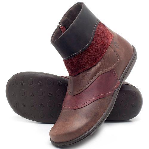 Laranja_Lima_Shoes_Sapatos_Femininos_Bota_Cano_Curto_em_Couro_Multicolor_-_Codigo_-_56076_2