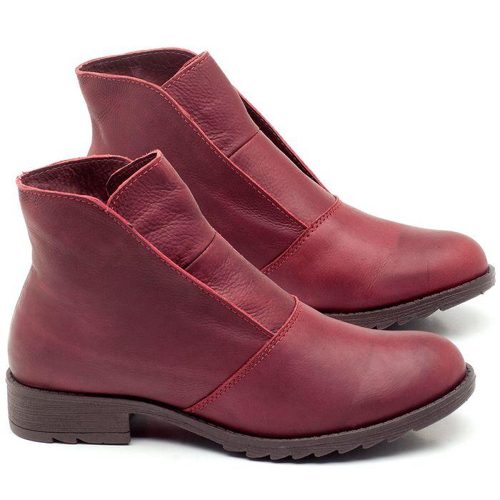 Laranja_Lima_Shoes_Sapatos_Femininos_Bota_Cano_Curto_em_Couro_Vinho_-_Codigo_-_56077_1