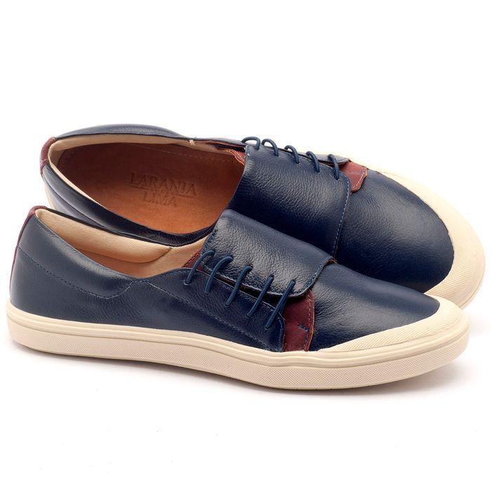 Laranja_Lima_Shoes_Sapatos_Femininos_Tenis_Cano_Baixo_em_Couro_Azul_-_Codigo_-_56095_1