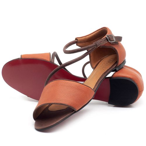 Laranja_Lima_Shoes_Sapatos_Femininos_Sandalia_Rasteira_em_Couro_Laranja_-_Codigo_-_56114_2