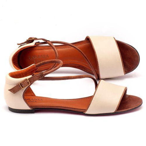 Laranja_Lima_Shoes_Sapatos_Femininos_Sandalia_Rasteira_em_Couro_Off-White_-_Codigo_-_56114_1