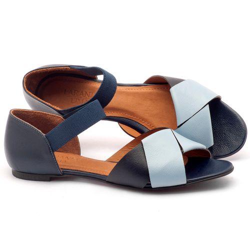 Laranja_Lima_Shoes_Sapatos_Femininos_Sandalia_Rasteira_Flat_em_Couro_Azul_-_Codigo_-_56122_1