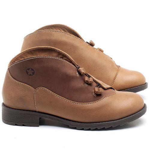 Laranja_Lima_Shoes_Sapatos_Femininos_Bota_Cano_Curto_em_Couro_Caramelo_-_Codigo_-_56130_1