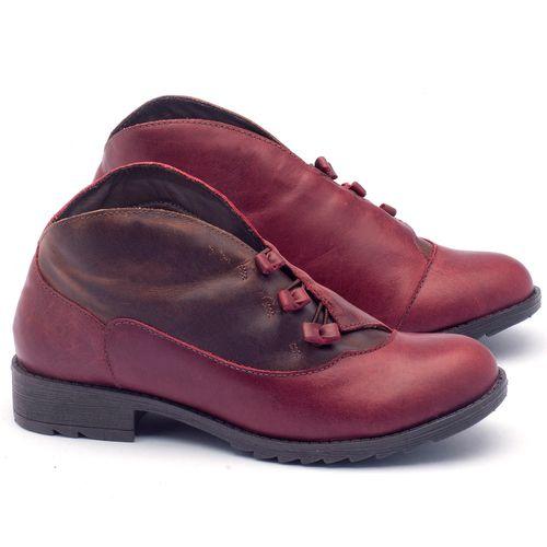 Laranja_Lima_Shoes_Sapatos_Femininos_Bota_Cano_Curto_em_Couro_Vinho_-_Codigo_-_56130_1