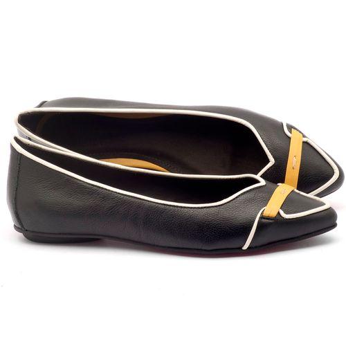 Laranja_Lima_Shoes_Sapatos_Femininos_Sapatilha_Bico_Fino_em_Couro_Preto_-_Codigo_-_56144_1