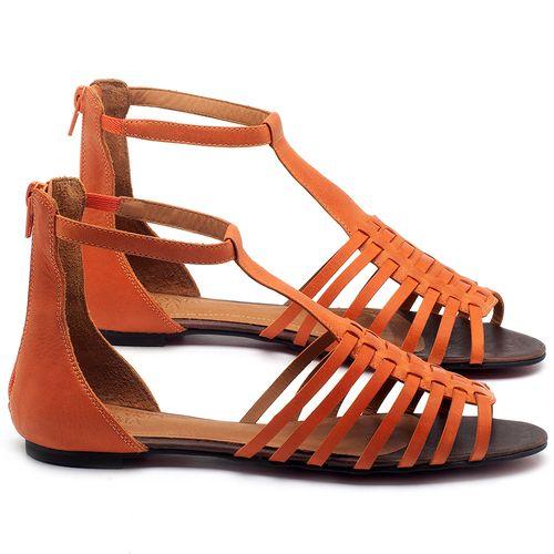 Laranja_Lima_Shoes_Sapatos_Femininos_Sandalia_Rasteira_Flat_em_Couro_Laranja_-_Codigo_-_56145_1