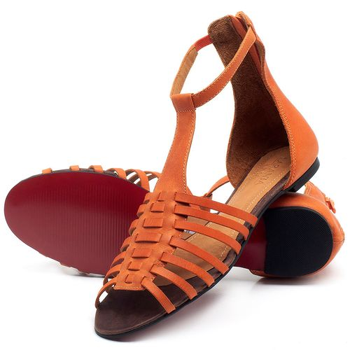 Laranja_Lima_Shoes_Sapatos_Femininos_Sandalia_Rasteira_Flat_em_Couro_Laranja_-_Codigo_-_56145_2