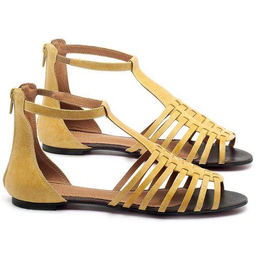 Laranja_Lima_Shoes_Sapatos_Femininos_Sandalia_Rasteira_Flat_em_Couro_Amarelo_-_Codigo_-_56145_1