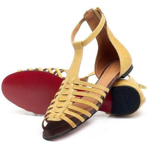 Laranja_Lima_Shoes_Sapatos_Femininos_Sandalia_Rasteira_Flat_em_Couro_Amarelo_-_Codigo_-_56145_2