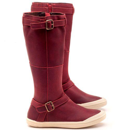 Laranja_Lima_Shoes_Sapatos_Femininos_Flat_Boot_em_Couro_Vinho_-_Codigo_-_56164_1