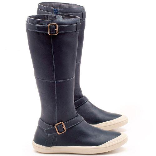 Laranja_Lima_Shoes_Sapatos_Femininos_Flat_Boot_em_Couro_Azul_-_Codigo_-_56164_1