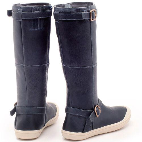 Laranja_Lima_Shoes_Sapatos_Femininos_Flat_Boot_em_Couro_Azul_-_Codigo_-_56164_2