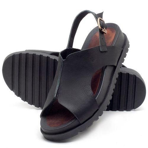 Laranja_Lima_Shoes_Sapatos_Femininos_Sandalia_Rasteira_Flat_em_Couro_Preto_-_Codigo_-_56191_2