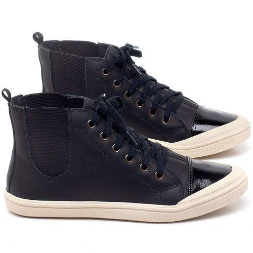 Laranja_Lima_Shoes_Sapatos_Femininos_Tenis_Cano_Alto_em_Couro_Preto_-_Codigo_-_56197_1