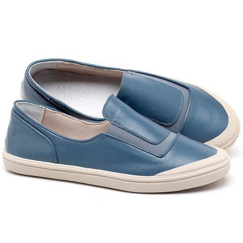Laranja_Lima_Shoes_Sapatos_Femininos_Tenis_Cano_Baixo_em_Couro_Azul_-_Codigo_-_56199_1