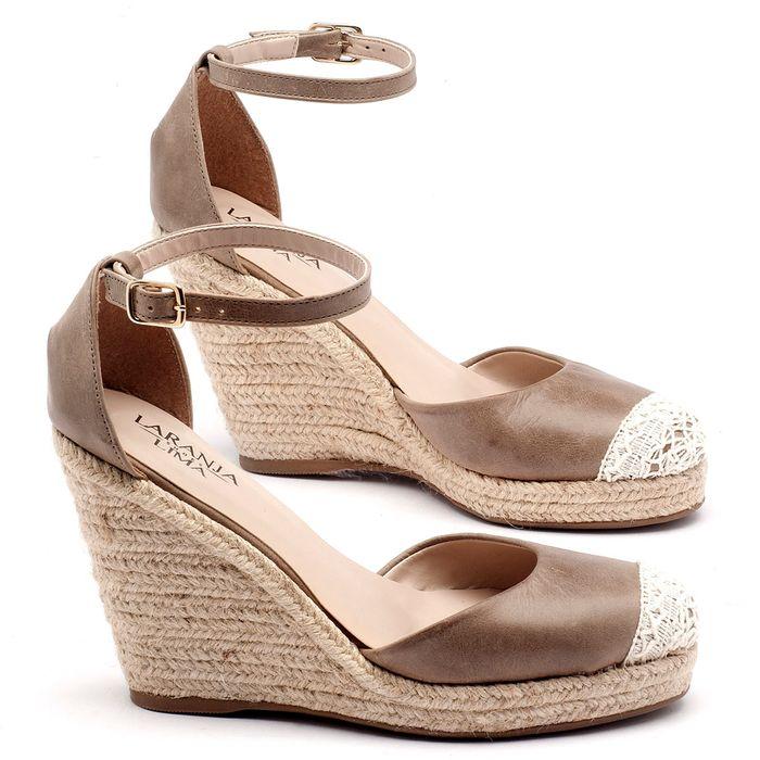 Laranja_Lima_Shoes_Sapatos_Femininos_Espadrille_Laranja_Lima_Shoes_Salto_de_9_cm_em_Couro_Bege_-_Codigo_-_9391_1