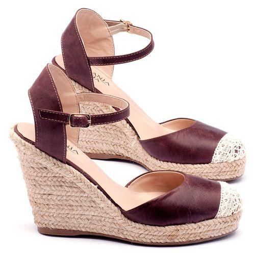 Laranja_Lima_Shoes_Sapatos_Femininos_Espadrille_Laranja_Lima_Shoes_Salto_de_9_cm_em_Couro_Bordo_-_Codigo_-_9392_1