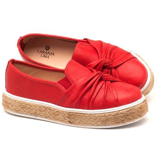 Laranja_Lima_Shoes_Sapatos_Femininos_Tenis_Cano_Baixo_em_Couro_Vermelho_-_Codigo_-_9429_1