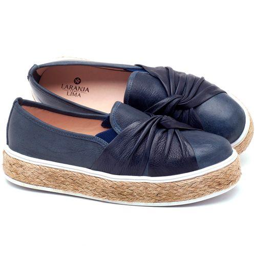 Laranja_Lima_Shoes_Sapatos_Femininos_Tenis_Cano_Baixo_em_Couro_Marinho_-_Codigo_-_9429_1