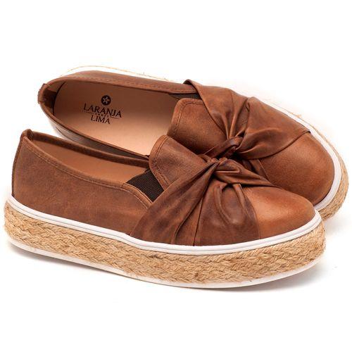 Laranja_Lima_Shoes_Sapatos_Femininos_Tenis_Cano_Baixo_em_Couro_Cafe_-_Codigo_-_9429_1
