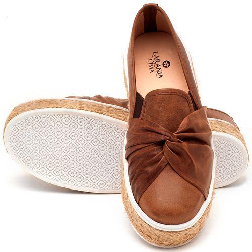 Laranja_Lima_Shoes_Sapatos_Femininos_Tenis_Cano_Baixo_em_Couro_Cafe_-_Codigo_-_9429_2