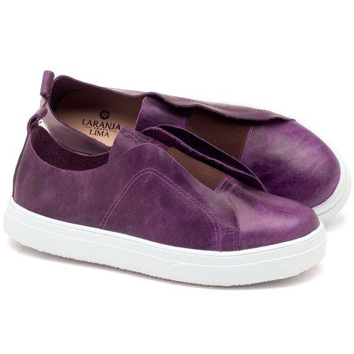 Laranja_Lima_Shoes_Sapatos_Femininos_Tenis_Cano_Baixo_em_Couro_Roxo_-_Codigo_-_9430_1