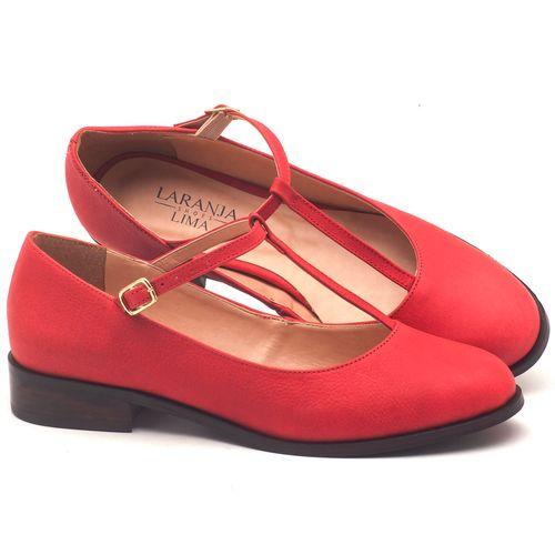 Laranja_Lima_Shoes_Sapatos_Femininos_Oxford_Laranja_Lima_Shoes_Salto_de_2_cm_em_Couro_Vermelho_-_Codigo_-_9434_1