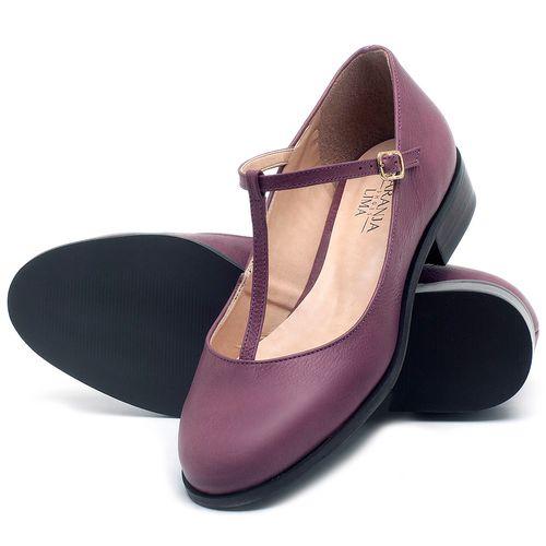 Laranja_Lima_Shoes_Sapatos_Femininos_Oxford_Laranja_Lima_Shoes_Salto_de_2_cm_em_Couro_Roxo_-_Codigo_-_9434_2