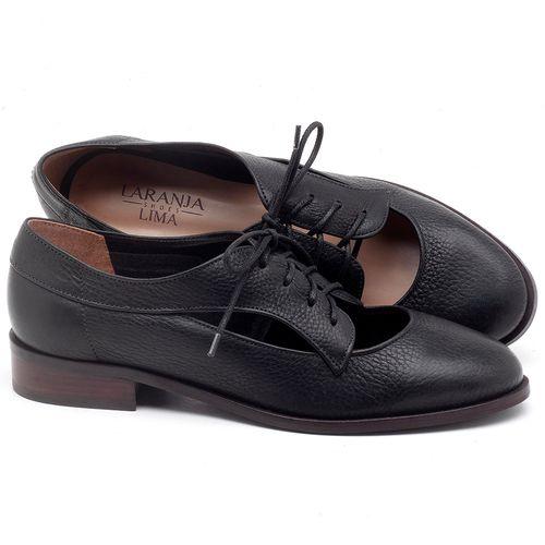 Laranja_Lima_Shoes_Sapatos_Femininos_Oxford_Laranja_Lima_Shoes_Salto_de_2_cm_em_Couro_Preto_-_Codigo_-_9435_1