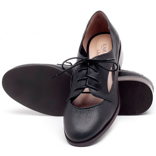 Laranja_Lima_Shoes_Sapatos_Femininos_Oxford_Laranja_Lima_Shoes_Salto_de_2_cm_em_Couro_Preto_-_Codigo_-_9435_2