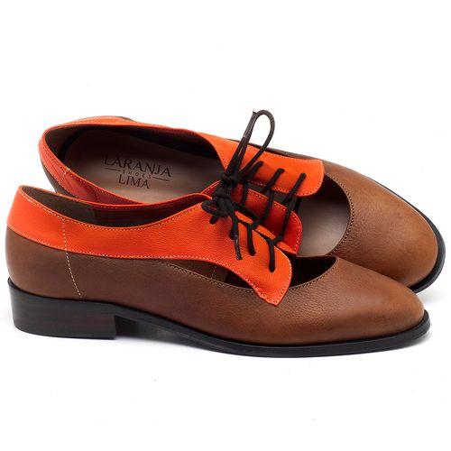 Laranja_Lima_Shoes_Sapatos_Femininos_Oxford_Laranja_Lima_Shoes_Salto_de_2_cm_em_Couro_Laranja_-_Codigo_-_9435_1