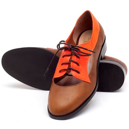 Laranja_Lima_Shoes_Sapatos_Femininos_Oxford_Laranja_Lima_Shoes_Salto_de_2_cm_em_Couro_Laranja_-_Codigo_-_9435_2