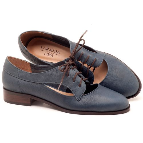 Laranja_Lima_Shoes_Sapatos_Femininos_Oxford_Laranja_Lima_Shoes_Salto_de_2_cm_em_Couro_Azul_-_Codigo_-_9435_1