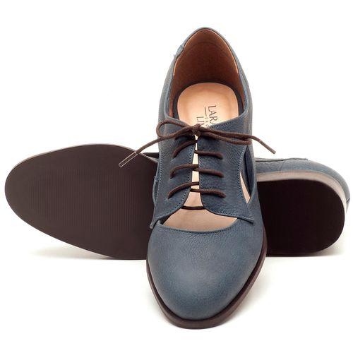 Laranja_Lima_Shoes_Sapatos_Femininos_Oxford_Laranja_Lima_Shoes_Salto_de_2_cm_em_Couro_Azul_-_Codigo_-_9435_2
