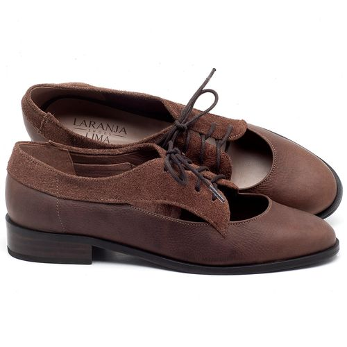 Laranja_Lima_Shoes_Sapatos_Femininos_Oxford_Laranja_Lima_Shoes_Salto_de_2_cm_em_Couro_Marrom_-_Codigo_-_9435_1