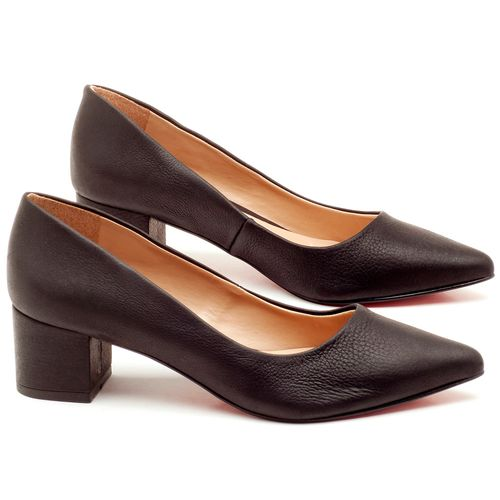 Laranja_Lima_Shoes_Sapatos_Femininos_Scarpin_Salto_Medio_de_5_cm_em_Material_Misto_Preto_-_Codigo_-_9437_1