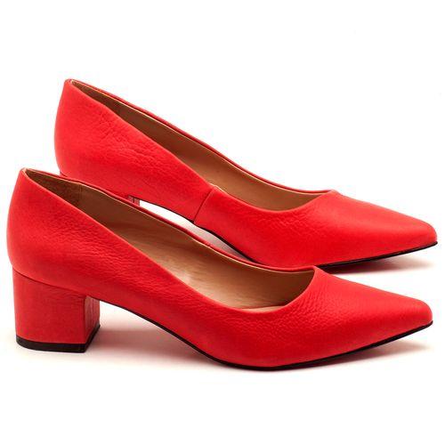 Laranja_Lima_Shoes_Sapatos_Femininos_Scarpin_Salto_Medio_de_5_cm_em_Material_Misto_Vermelho_-_Codigo_-_9437_1