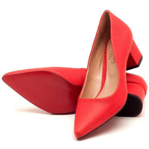 Laranja_Lima_Shoes_Sapatos_Femininos_Scarpin_Salto_Medio_de_5_cm_em_Material_Misto_Vermelho_-_Codigo_-_9437_2