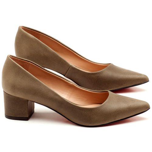 Laranja_Lima_Shoes_Sapatos_Femininos_Scarpin_Salto_Medio_de_5_cm_em_Material_Misto_Musgo_-_Codigo_-_9437_1