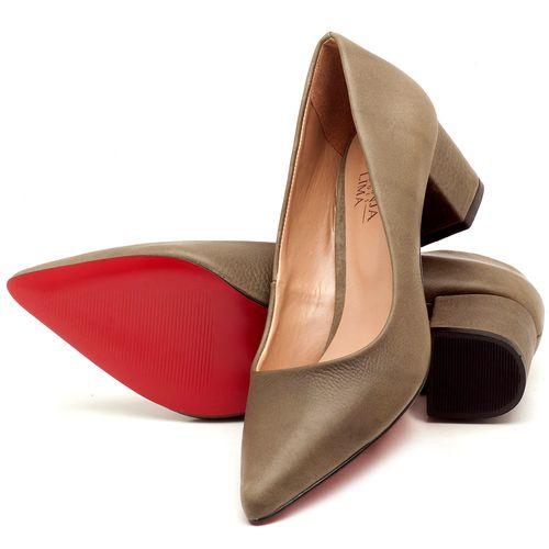 Laranja_Lima_Shoes_Sapatos_Femininos_Scarpin_Salto_Medio_de_5_cm_em_Material_Misto_Musgo_-_Codigo_-_9437_2