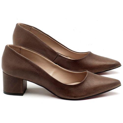 Laranja_Lima_Shoes_Sapatos_Femininos_Scarpin_Salto_Medio_de_5_cm_em_Material_Misto_Marrom_-_Codigo_-_9437_1
