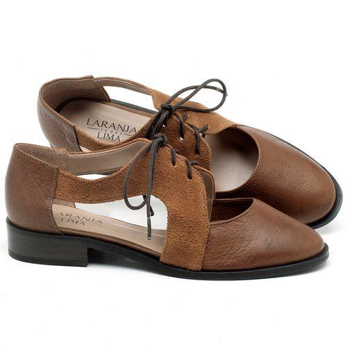 Laranja_Lima_Shoes_Sapatos_Femininos_Oxford_Laranja_Lima_Shoes_Salto_de_2_cm_em_Couro_Bicolor_-_Codigo_-_9438_1