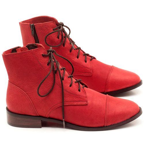 Laranja_Lima_Shoes_Sapatos_Femininos_Bota_Cano_Curto_Salto_de_2_cm_em_Couro_Vermelho_-_Codigo_-_9440_1